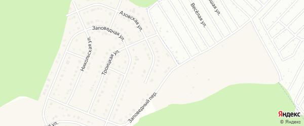 Азовская улица на карте Стрелецкого села с номерами домов