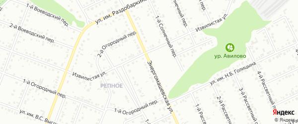 Энергомашевская улица на карте Белгорода с номерами домов