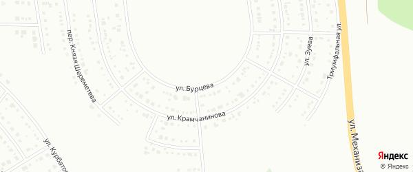 Улица Бурцева на карте Белгорода с номерами домов