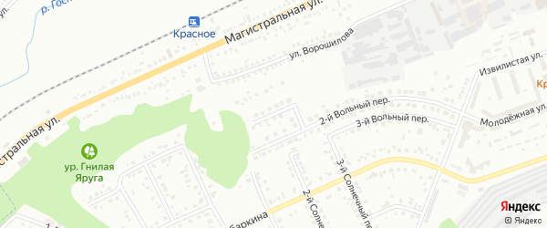 Вольный 1-й переулок на карте Белгорода с номерами домов