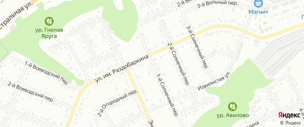 Солнечный 1-й переулок на карте Белгорода с номерами домов