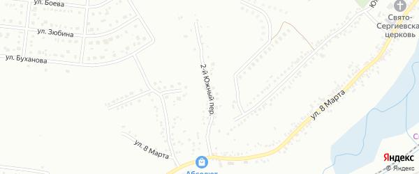 Южный 2-й переулок на карте Белгорода с номерами домов