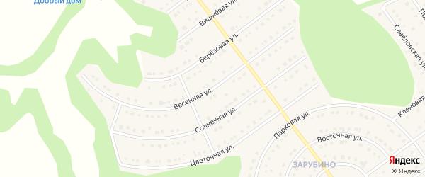 Весенняя улица на карте села Новой Нелидовки с номерами домов