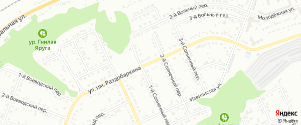 Улица им Раздобаркина на карте Белгорода с номерами домов