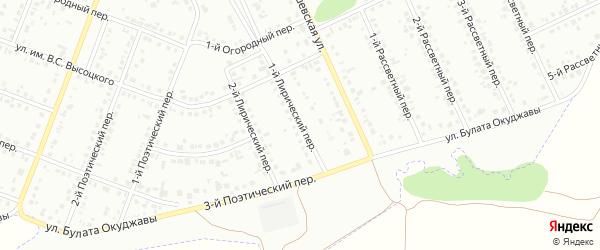 Лирический 1-й переулок на карте Белгорода с номерами домов