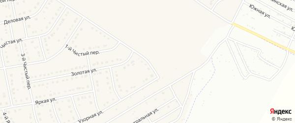 Узорный 1-й переулок на карте Стрелецкого села с номерами домов