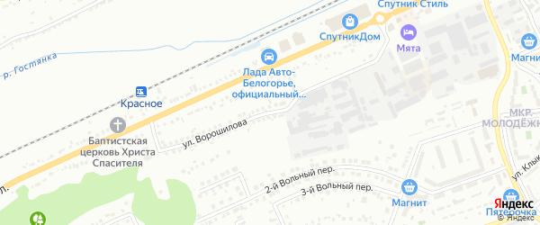 Улица Ворошилова на карте Белгорода с номерами домов