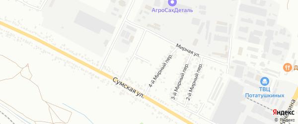 Мирный 4-й переулок на карте Белгорода с номерами домов