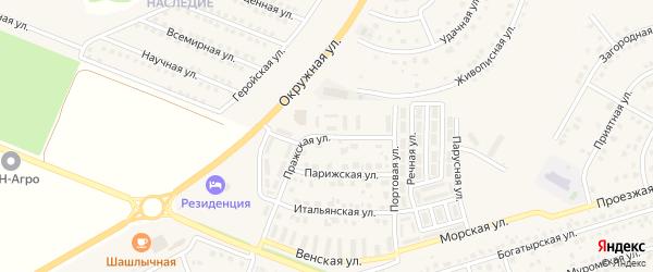 Пражская улица на карте Репного села с номерами домов
