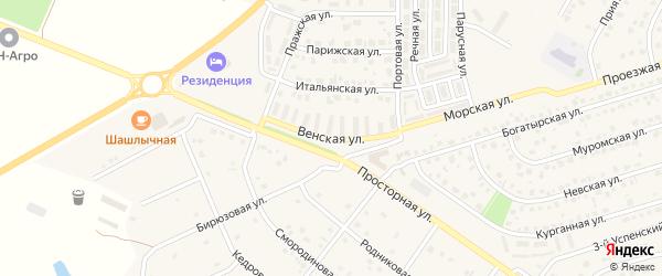 Венская улица на карте Репного села с номерами домов