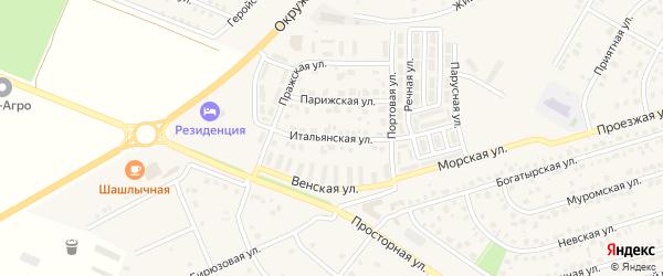 Итальянская улица на карте Репного села с номерами домов