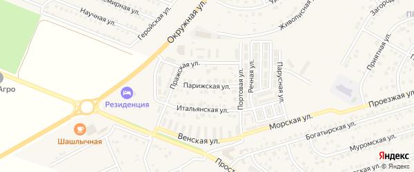 Парижская улица на карте Репного села с номерами домов
