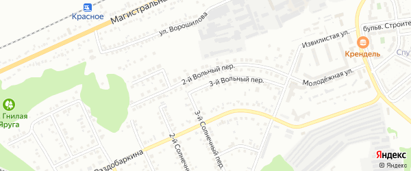 Вольный 3-й переулок на карте Белгорода с номерами домов