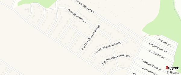 4-й Октябрьский переулок на карте Стрелецкого села с номерами домов