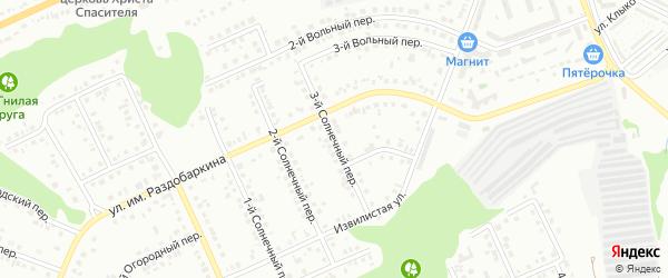 Солнечный 3-й переулок на карте Белгорода с номерами домов