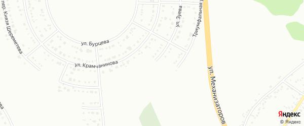 Улица Зуева на карте Белгорода с номерами домов