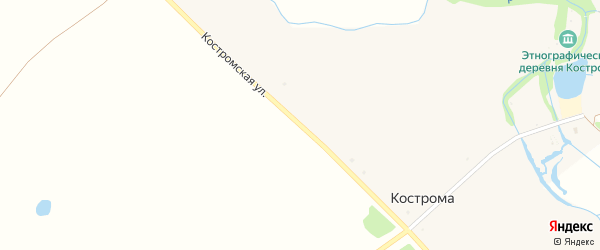 Костромская улица на карте села Костромы с номерами домов