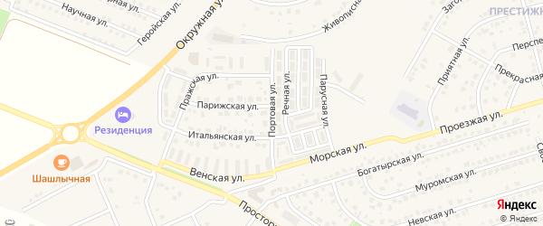 Портовая улица на карте Репного села с номерами домов