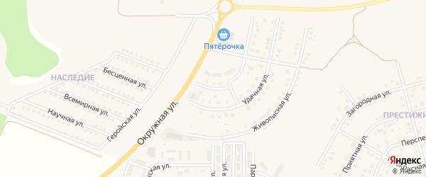 Попутная улица на карте поселка Дубового с номерами домов
