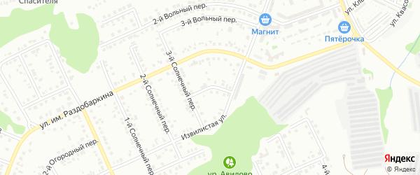 Солнечный 4-й переулок на карте Белгорода с номерами домов