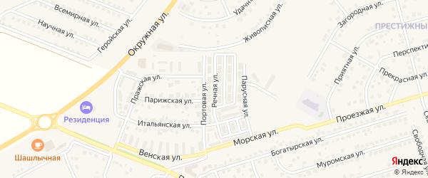 Речная улица на карте Репного села с номерами домов