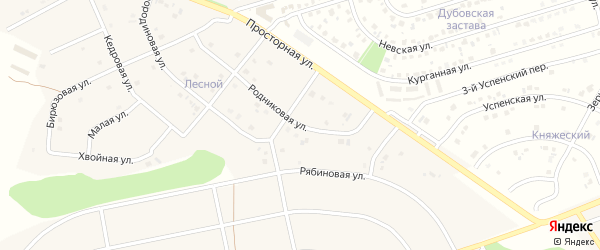 Родниковая улица на карте села Шагаровки с номерами домов