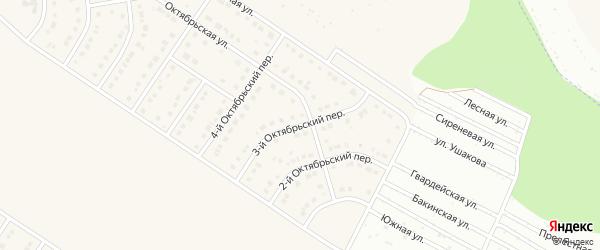 3-й Октябрьский переулок на карте Стрелецкого села с номерами домов