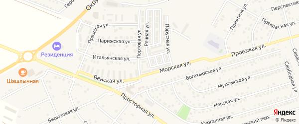 1-й Приморский переулок на карте Репного села с номерами домов