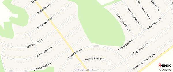 Цветочная улица на карте села Новой Нелидовки с номерами домов