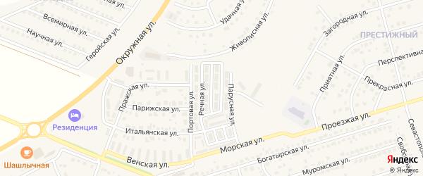 Флотская улица на карте Репного села с номерами домов