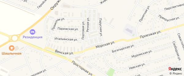 Приморская улица на карте Репного села с номерами домов