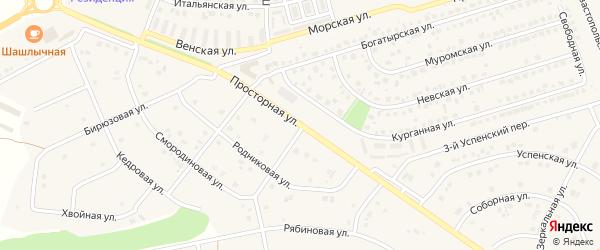 Просторная улица на карте села Шагаровки с номерами домов