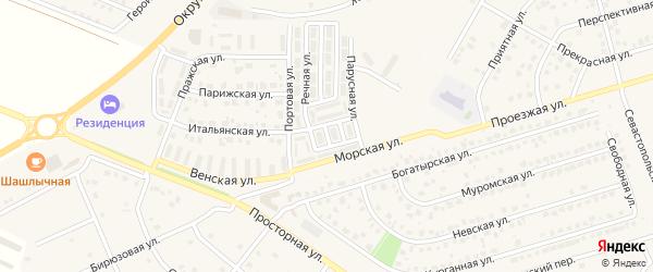 Приморский 2-й переулок на карте Репного села с номерами домов