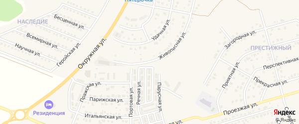 Живописная улица на карте поселка Дубового с номерами домов
