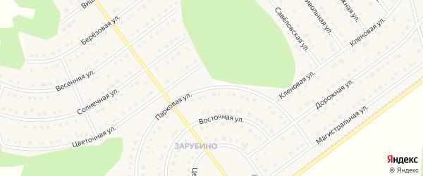 Парковая улица на карте села Новой Нелидовки с номерами домов