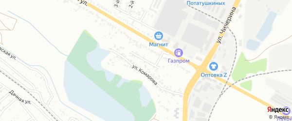Переулок Комарова на карте Белгорода с номерами домов