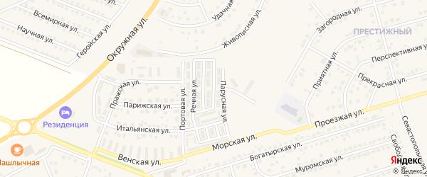 Корабельная улица на карте Репного села с номерами домов