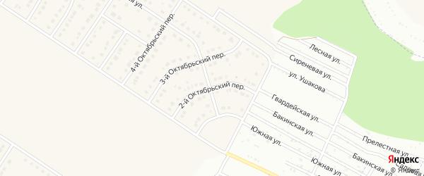 Северный 2-й переулок на карте Никольского села с номерами домов