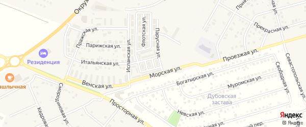 Приморский 3-й переулок на карте Репного села с номерами домов
