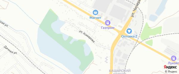 Улица Комарова на карте Белгорода с номерами домов