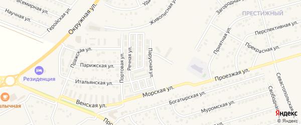 Парусная улица на карте Репного села с номерами домов