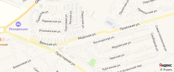 Морская улица на карте Репного села с номерами домов