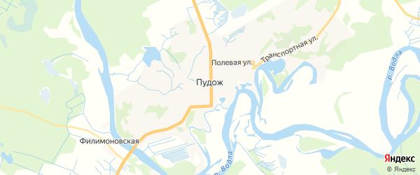 Карта Пудожа с районами, улицами и номерами домов