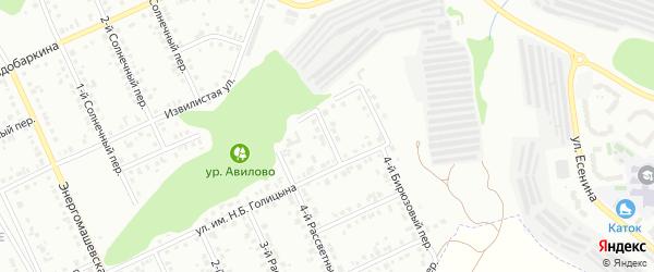 Бирюзовый 3-й переулок на карте Белгорода с номерами домов