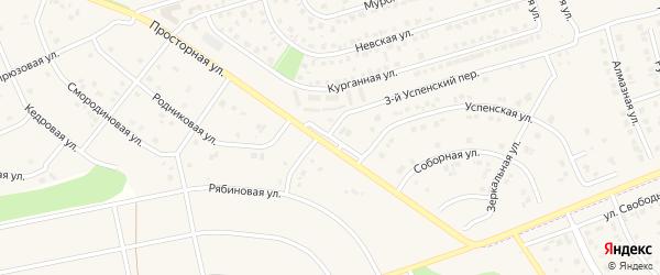 Преображенская улица на карте поселка Дубового с номерами домов