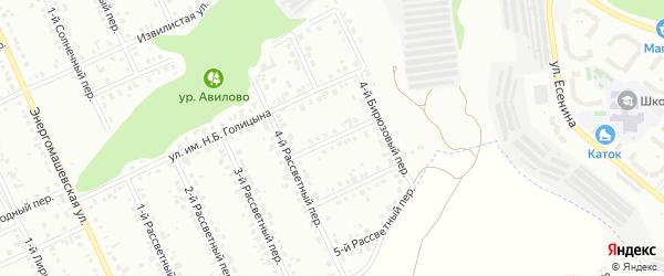 Бирюзовый 1-й переулок на карте Белгорода с номерами домов