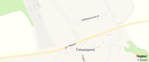 Советская улица на карте села Смородино с номерами домов
