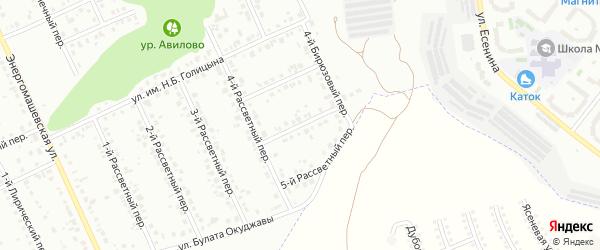 Бирюзовый 2-й переулок на карте Белгорода с номерами домов