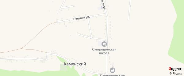 Молодежная улица на карте села Смородино с номерами домов