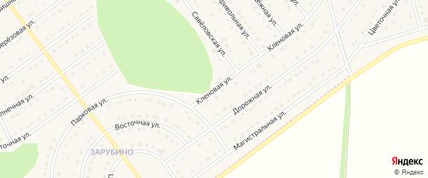 Кленовая улица на карте села Новой Нелидовки с номерами домов
